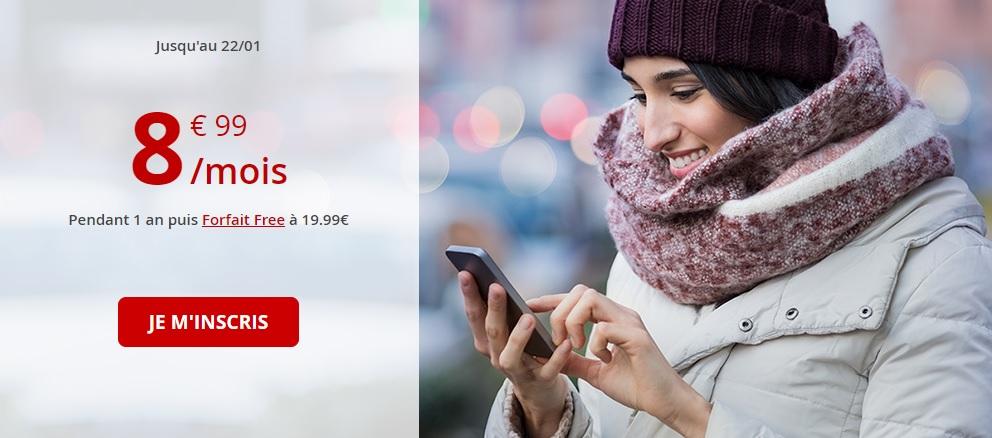 Bon plan Free Mobile : forfait 60 Go à 8.99€