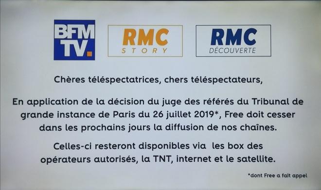 Altice exige le retrait de BFM TV et RMC sur les Freebox
