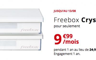 La Freebox Crystal à 10€ par mois jusqu'au 13 août
