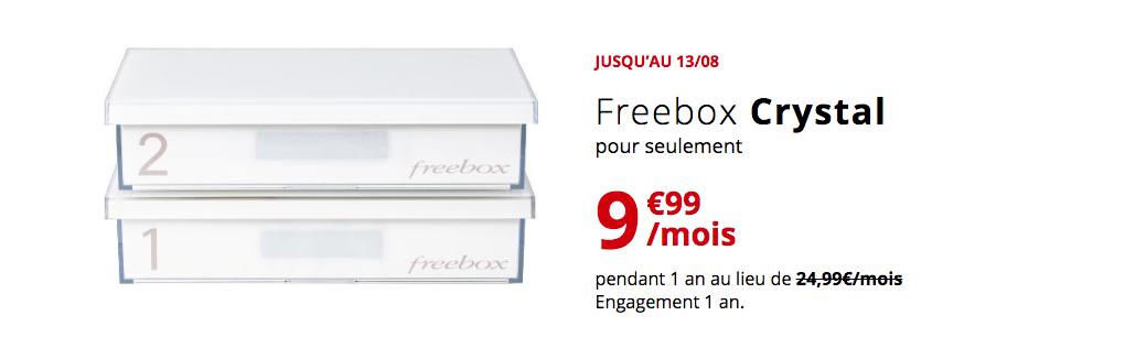 Freebox Crystal : que vaut la box de Free à 10€ ?