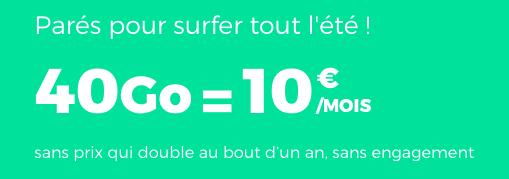 40 Go à 10€ : le forfait immanquable de RED by SFR