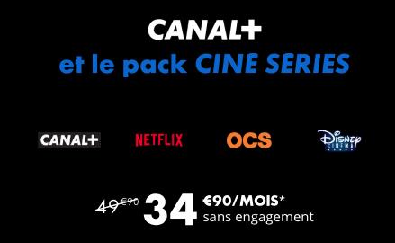 Canal+ lance son nouveau pack ciné-séries avec Netflix
