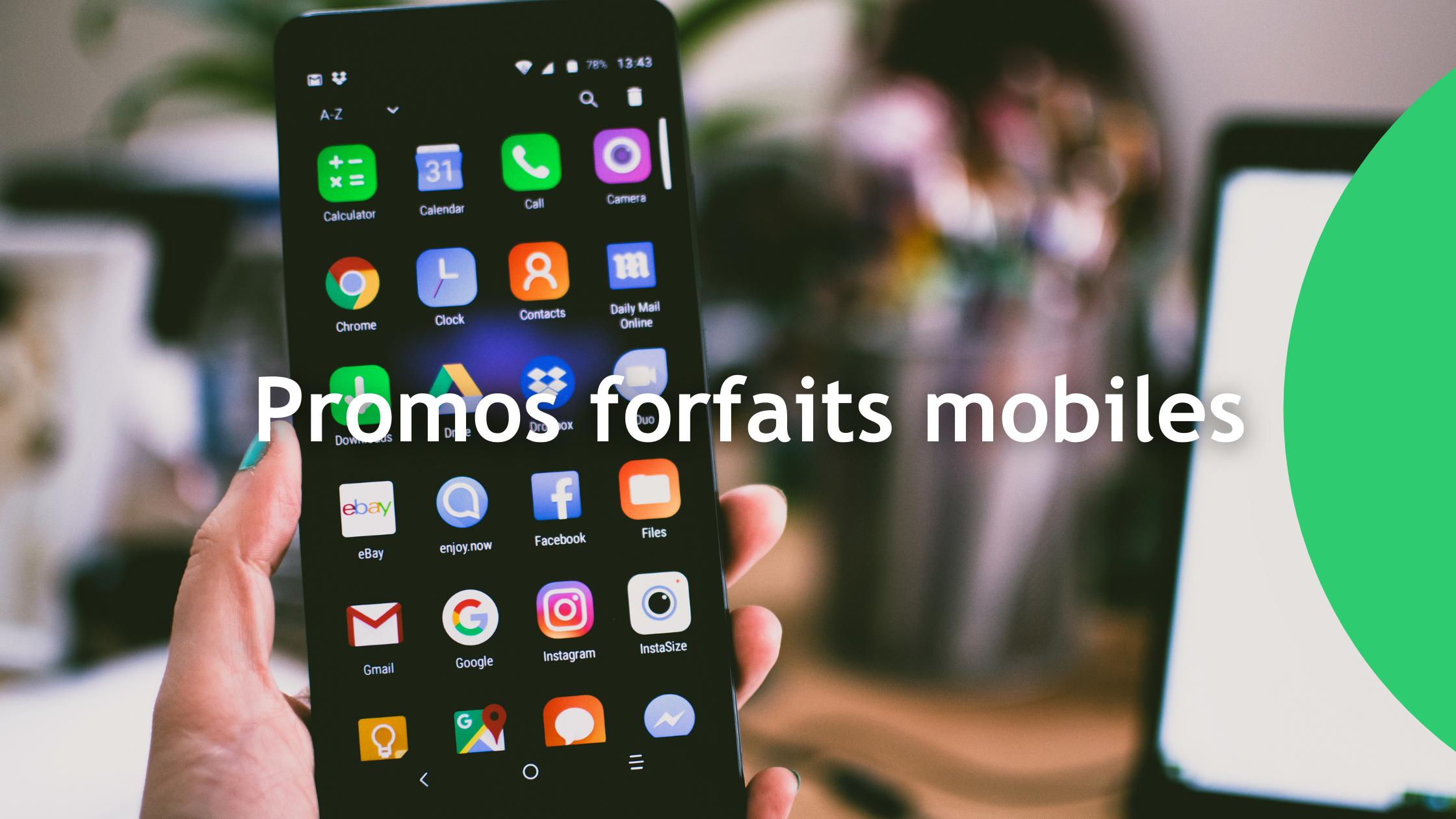 promos forfaits mobiles