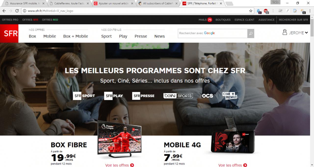 Quelle boutique en ligne des opérateurs les français visitent la plus ?