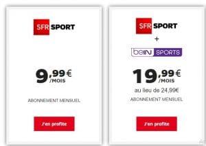 Recevoir SFR Sport : Offres SFR Sport + BeIn Sports