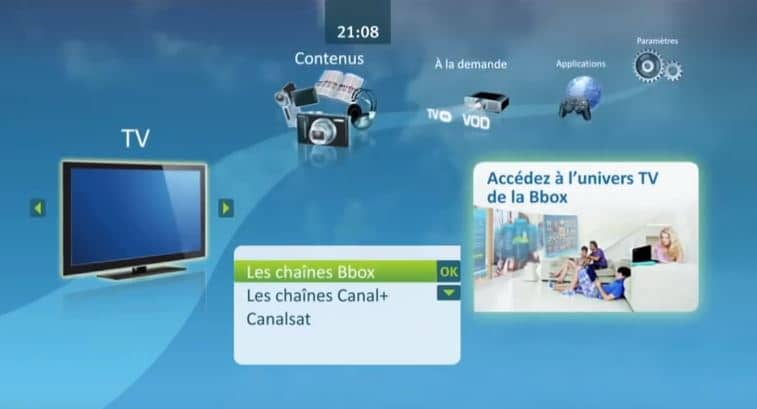 Avis Bbox : interface TV