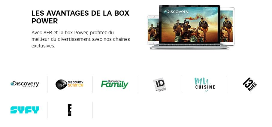 Box 4K SFR : chaines exclusives Power