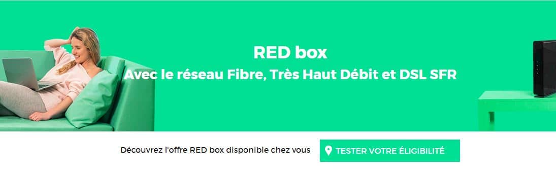 vente privée box : red by SFR