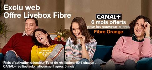 Fibre : des débits garantis et Canal+ offert chez Orange jusqu'à ce soir