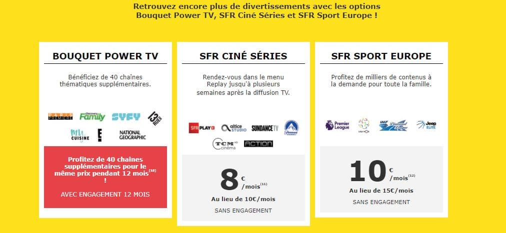 Promos box : options TV La Poste Mobile
