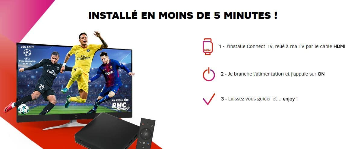 Connect TV de SFR : installation facile