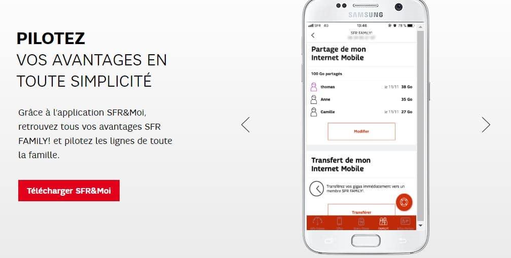 ventes privées SFR : avantages SFR Family