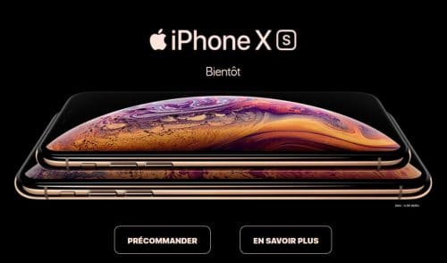 iPhone XS chez SFR
