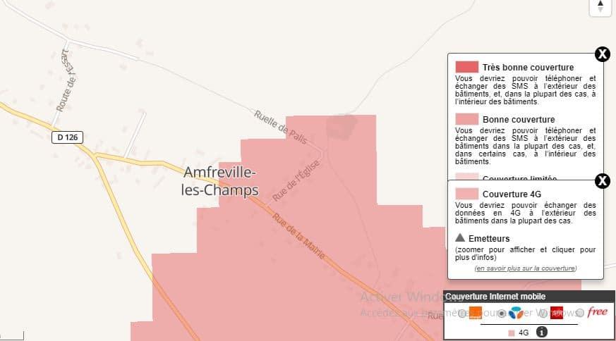 4G Box : couverture Bouygues à Amfreville