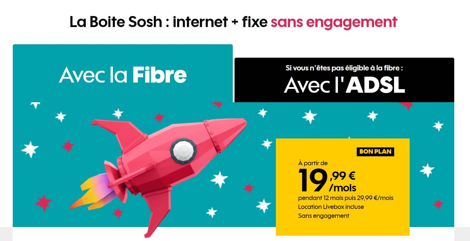 Box internet sans TV