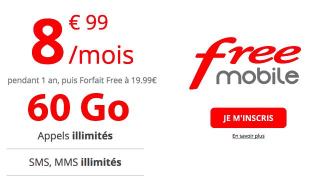test débit 4G : forfait Free