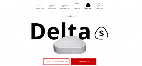 Box internet seul Freebox Delta S