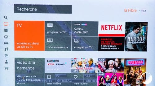 Interface TV décodeur Orange