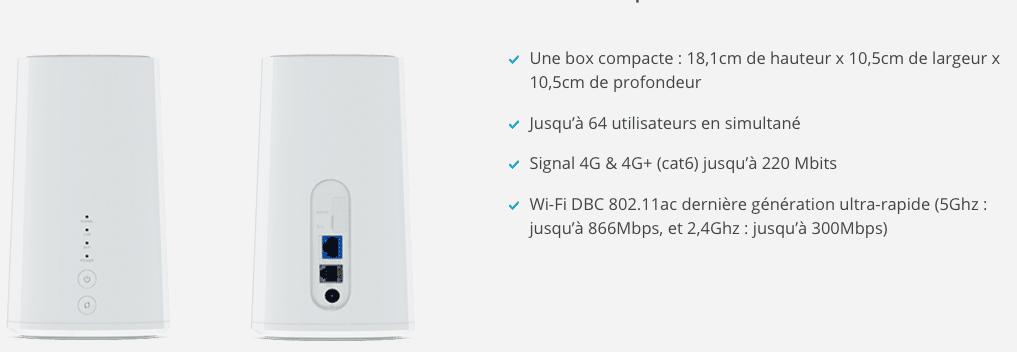 matériel 4G Box