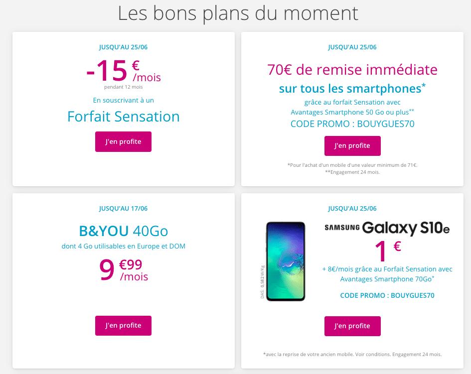 Code promo Bouygues Télécom, une bonne occasion de gagner quelques euros