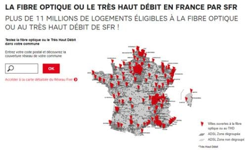 Carte couverture Fibre SFR