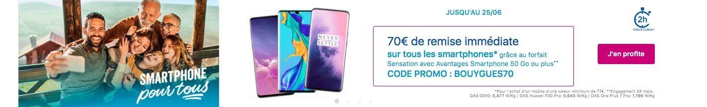 Vous pouvez aussi profiter des offres promo de Bouygues Télécom sur les smartphones