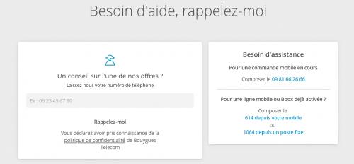 Rappel contacter Bouygues