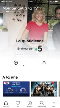 App SFR TV avec la SFR Box 8