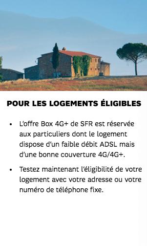 Box 4G SFR éligibilité