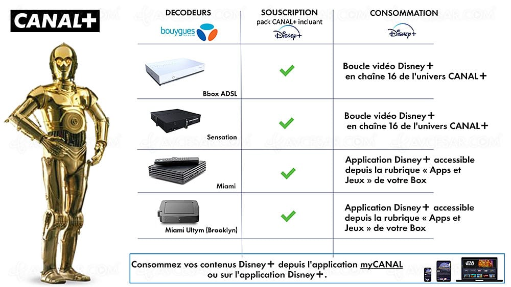 Disney+ Canal+ Bouygues