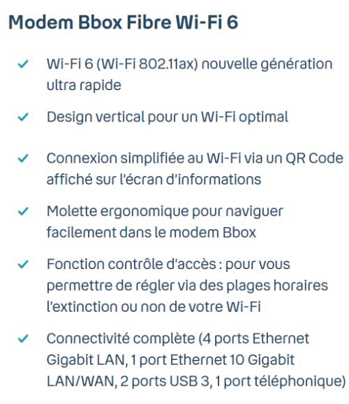 avantages bbox fibre wifi 6