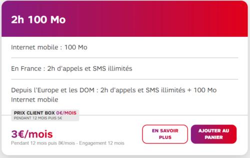 forfait mobile sans internet SFR