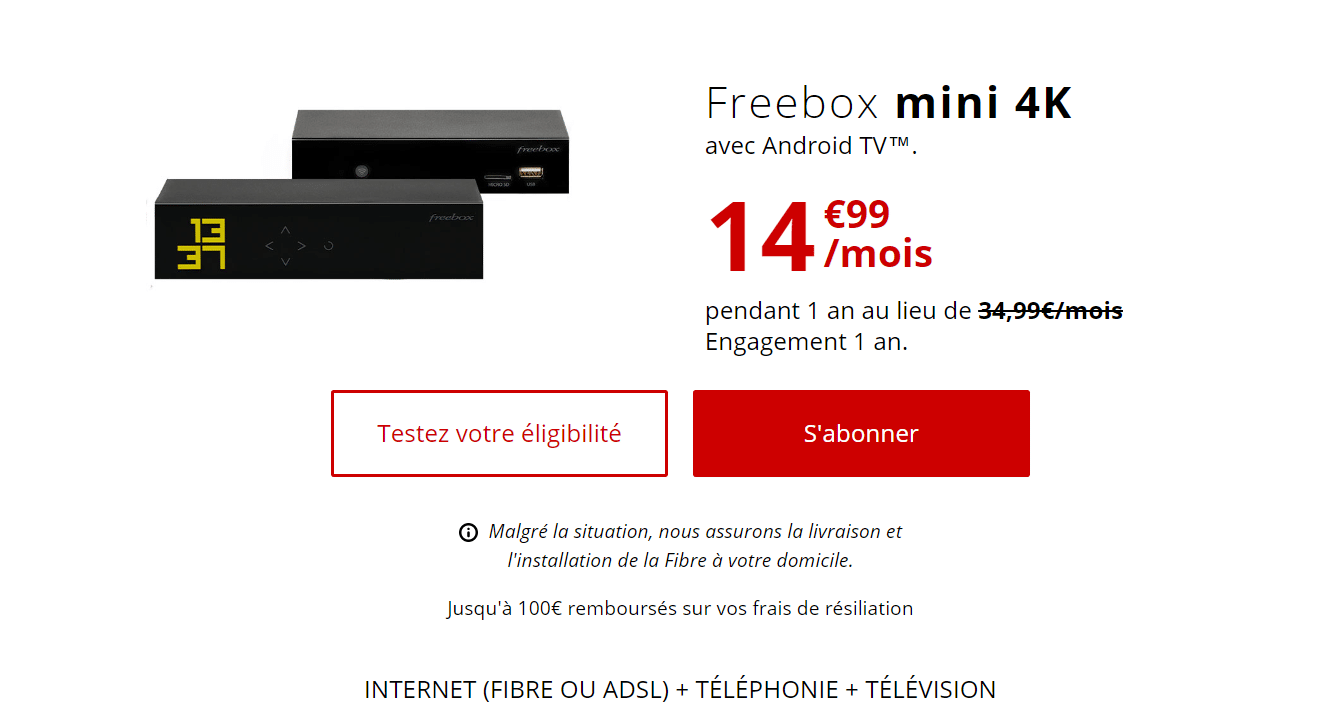 Ventes privées Freebox : Freebox mini 4K