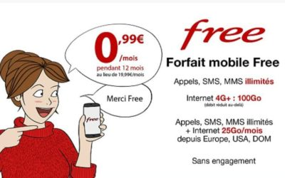 Vente Privée Free : forfait 100 Go à 0.99€/mois pendant 12 mois