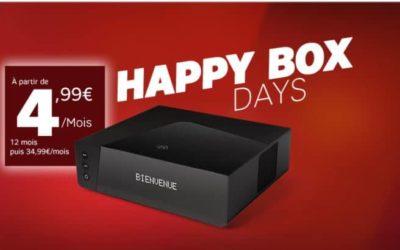 Happy Box Days : la Fibre (ou ADSL) de SFR à 4.99€/mois !
