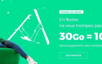 Le forfait 30Go à 10€ de Red by SFR est de retour