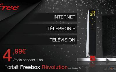 La Freebox Révolution est à 4.99€/mois sur Vente Privée