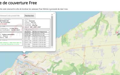 Couverture 4G Free : carte, chiffres, antennes et forfaits