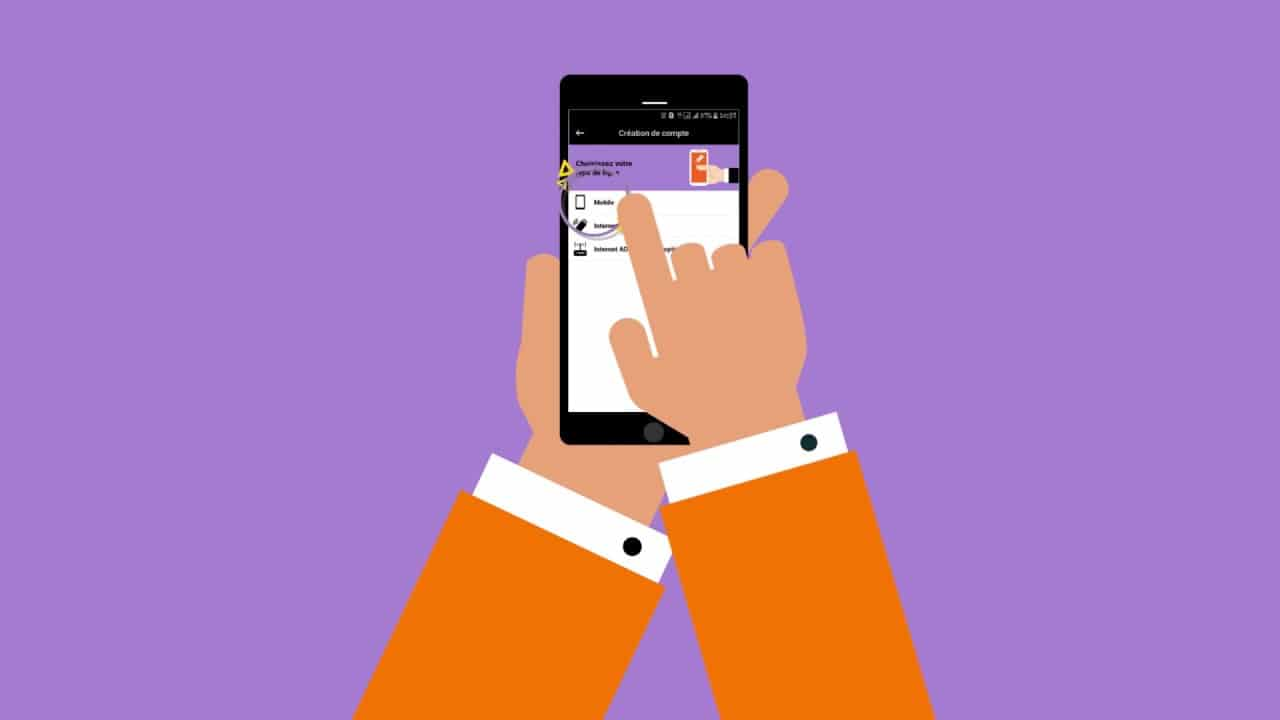 ouverture ligne orange mobile