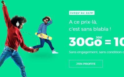 Red relance le forfait 30Go à 10€/mois sans engagement