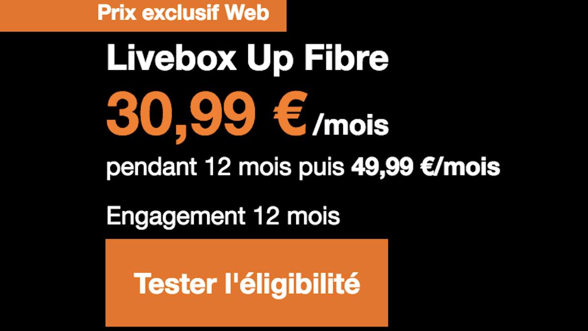 Avis livebox fibre up
