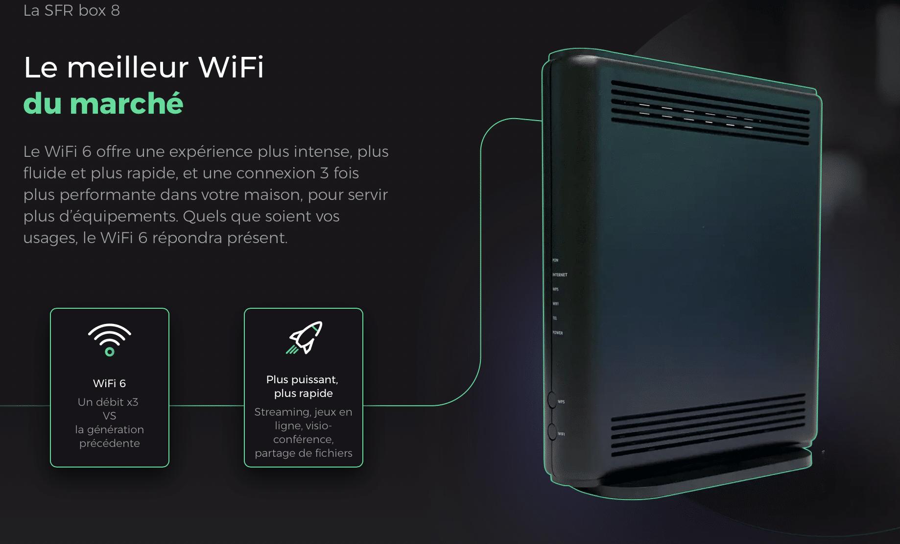 SFR Box 8 Internet